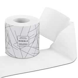 2-PLY BANDED TOILET PAPER