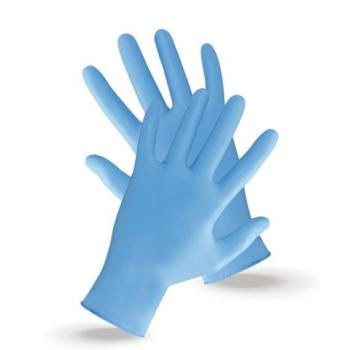 NITRILE GLOVES   light blue