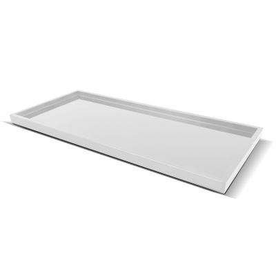 TRAY FOR HOTEL AMENITIES   white plastic