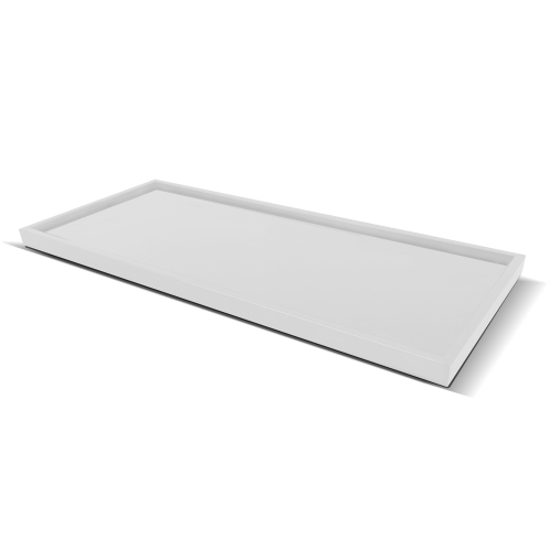 tray for hotel amenities   transparent plastic